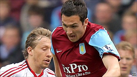 Stewart Downing finished clinically for Aston Villa against Liverpool