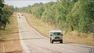 Stuart Highway, which links Darwin, Alice Springs and Adelaide 2001