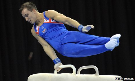 Daniel Keatings on the Pommel Horse