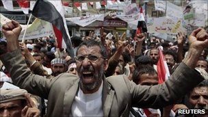 Anti-government protest in Sanaa - 23 May