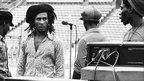 Bob Marley backstage rehearsing for a concert