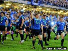 Leinster celebrate their Heineken Cup win