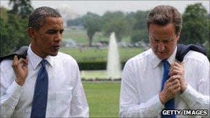 Barack Obama and David Cameron