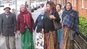 Gurkha families in Aldershot