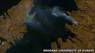 Satellite image of Scotland. Pic: 'NEODAAS/University of Dundee