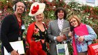 Rob Dunger, Jackie Llewelyn-Bowen, Laurence Llewelyn-Bowen and Lesley Dolphin at RHS Chelsea Flower Show 2011