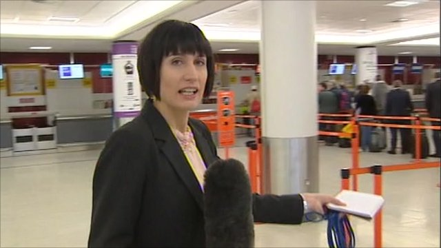 Fiona Trott at Edinburgh airport