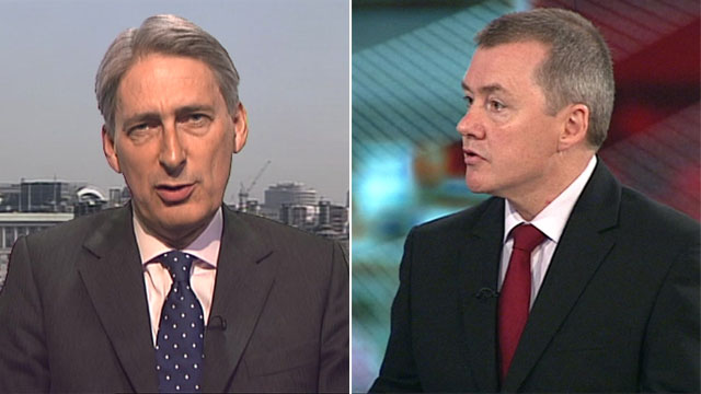 Transport Secretary Phillip Hammond and International Airlines Group CEO Willie Walsh