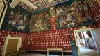 Tapestries adorn the wall of Stirling Castle's Royal Palace