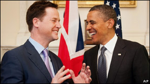 Nick Clegg and Barack Obama