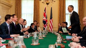 Barack Obama addresses British cabinet