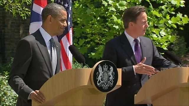 President Obama and Prime Minister Cameron