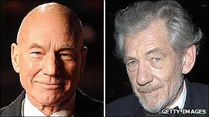 Sir Patrick Stewart และเซอร์เอียน McKellen