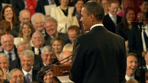 President Obama in Westminster Hall