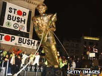 Effigy of Mr Bush