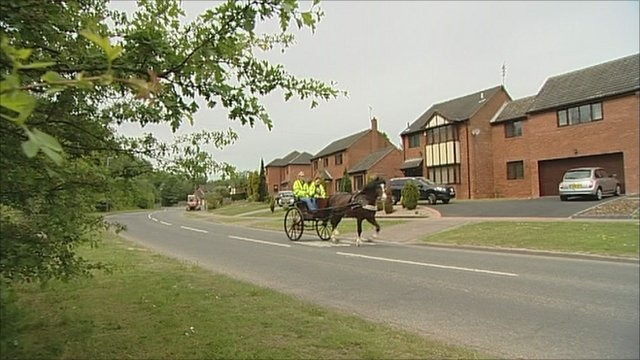 The horse and carriage