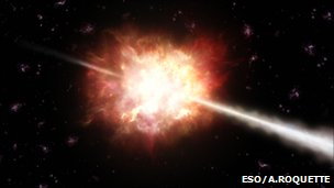 Impression of a star explosion (ESO/A. Roquette)