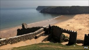 Barrafundle Beach in Pembrokeshire, West Wales