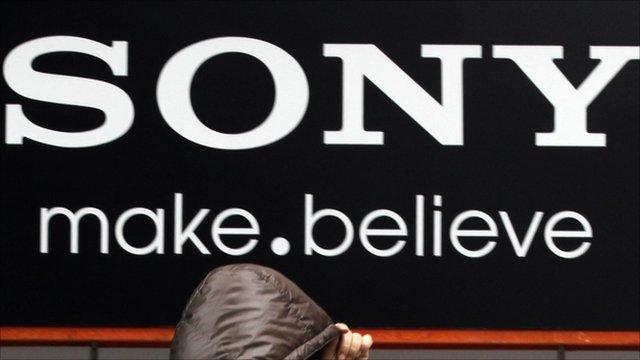Sony billboard in Japan