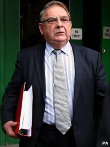 Lord Hanningfield outside court during his trial