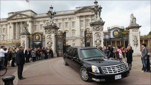 Mr Obama's limousine, dubbed The Beast, was asked to pay the £10-a-day congestion charge