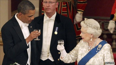 Barack Obama with the Queen