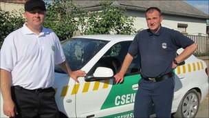 """Gendarmes"" working for the mayor in  Tiszavasvari, Hungary"