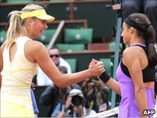 Maria Sharapova and Caroline Garcia