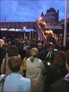 Passengers leave Kentish Town. Picture: Richard Averill