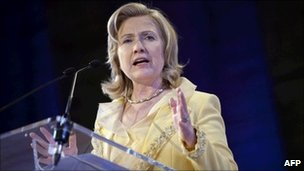 Hillary Clinton is due to meet Pakistani leadership during her visit