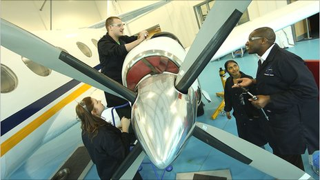 aeronautical students