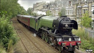 The Flying Scotsman in York. Copyright: NRM