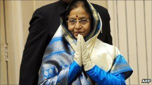 Indian President Pratibha Patil in January 2011