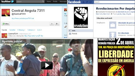 Screengrabs from Angolan activist websites