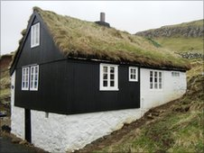 Traditional house on Faroe Islands