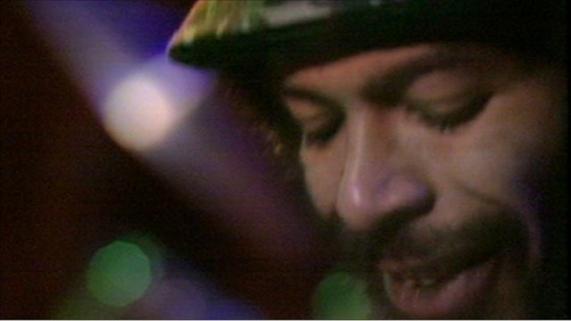 Gil Scott-Heron performing in the 70s
