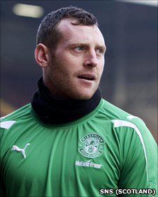 Hibernian goalkeeper Graham Stack