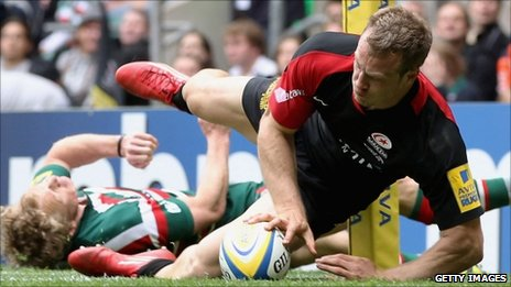 James Short scores the only try for Saracens
