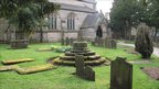 Saxon cross in Trentham Church graveyard
