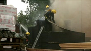 Great Chesterford fire