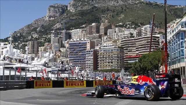 Sebastian Vettel in Monte Carlo