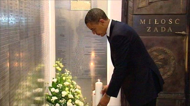 President Obama lighting candle
