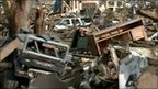 Wreckage after tornado in Joplin, Missouri