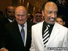 Sepp Blatter and Mohamed Bin Hammam