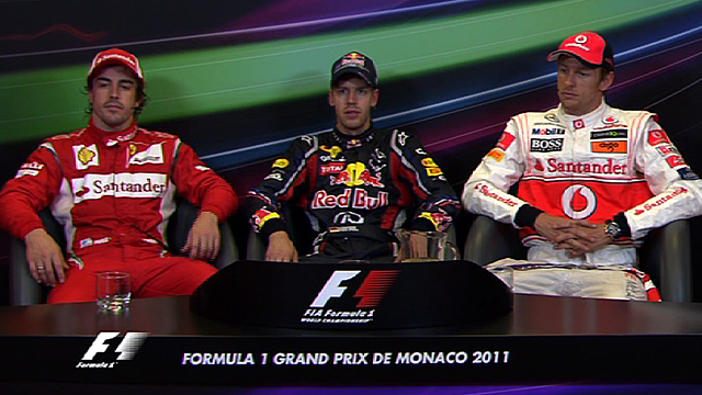 Monaco Grand Prix top three drivers