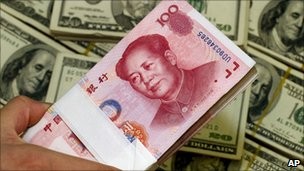 Yuan and dollar notes