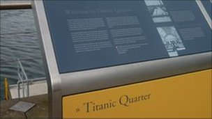 Titanic Quarter plaque