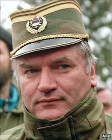 Bosnian Serb Army commander General Ratko Mladic in Sarajevo, February 1994