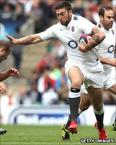 Matt Banahan on the attack for England at the weekend