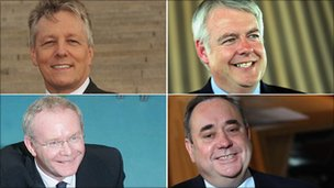 Peter Robinson, Carwyn Jones, Martin McGuinness and Alex Salmond